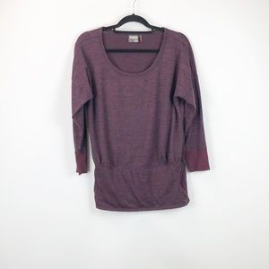 Athleta Burgundy Marled Robin Sweater
